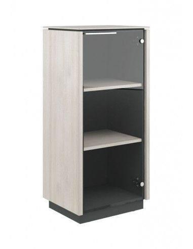 CAP31143002  Шкаф  однодверный  средний  стекло  правый