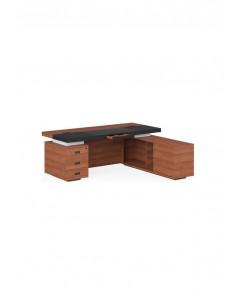 LVP19010103  Стол  письменный  с  тумбой  и  приставкой